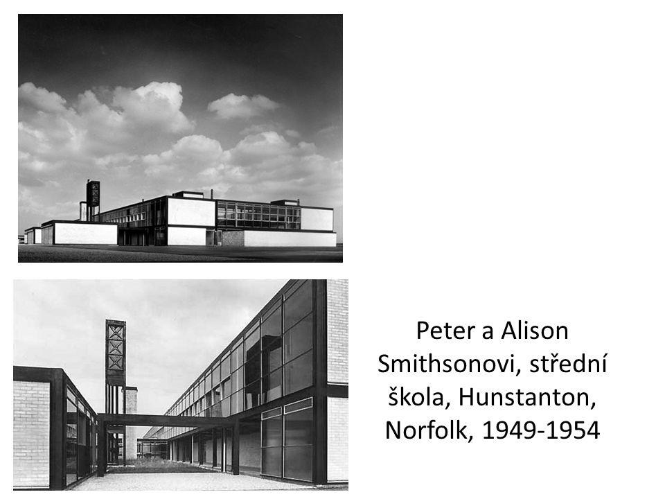 Peter a Alison Smithsonovi, střední škola, Hunstanton, Norfolk, 1949-1954