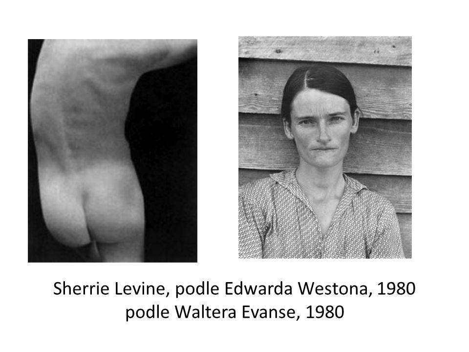 Sherrie Levine, podle Edwarda Westona, 1980 podle Waltera Evanse, 1980