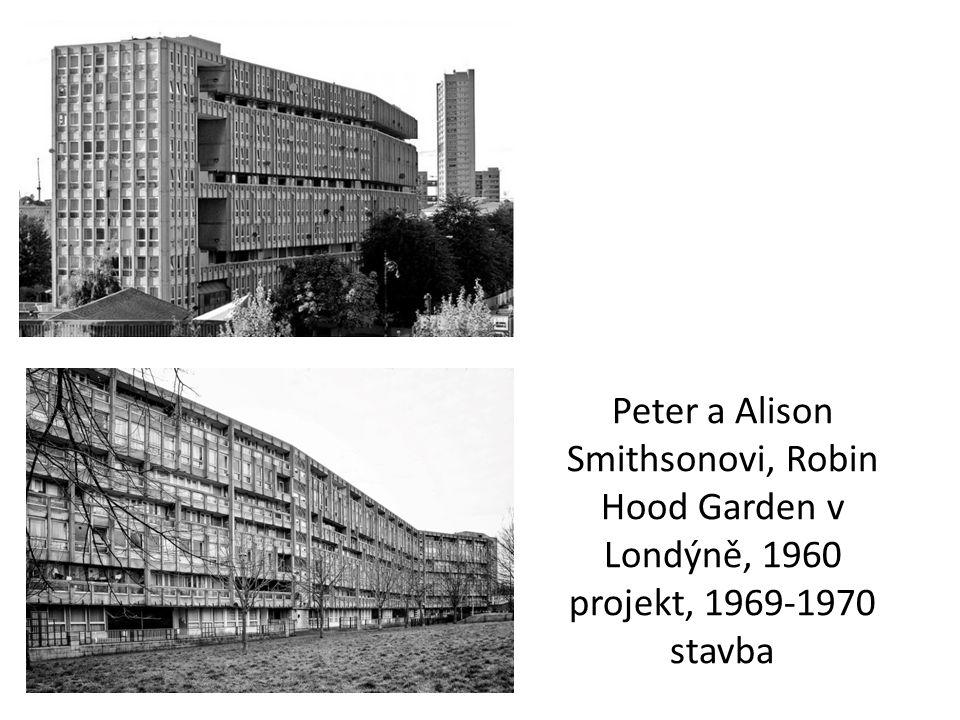 Peter a Alison Smithsonovi, Robin Hood Garden v Londýně, 1960 projekt, 1969-1970 stavba