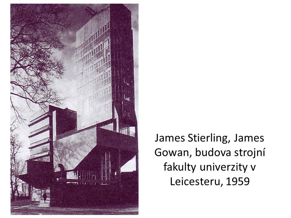 James Stierling, James Gowan, budova strojní fakulty univerzity v Leicesteru, 1959