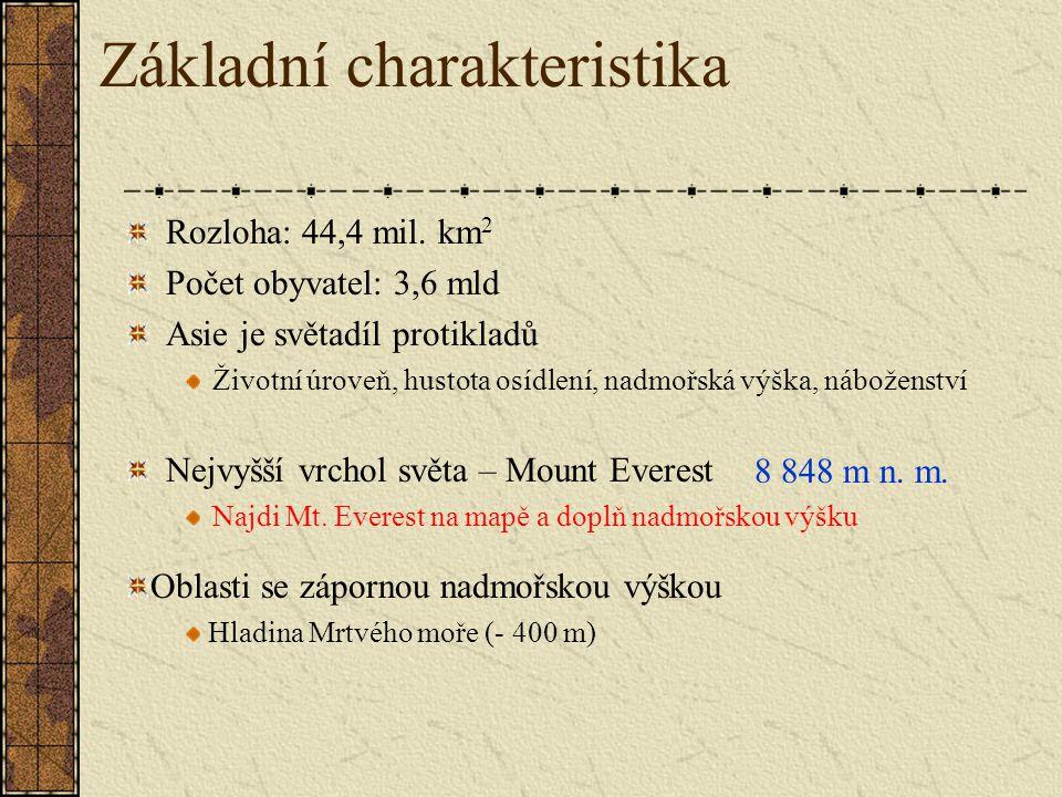 Základní charakteristika Rozloha: 44,4 mil.