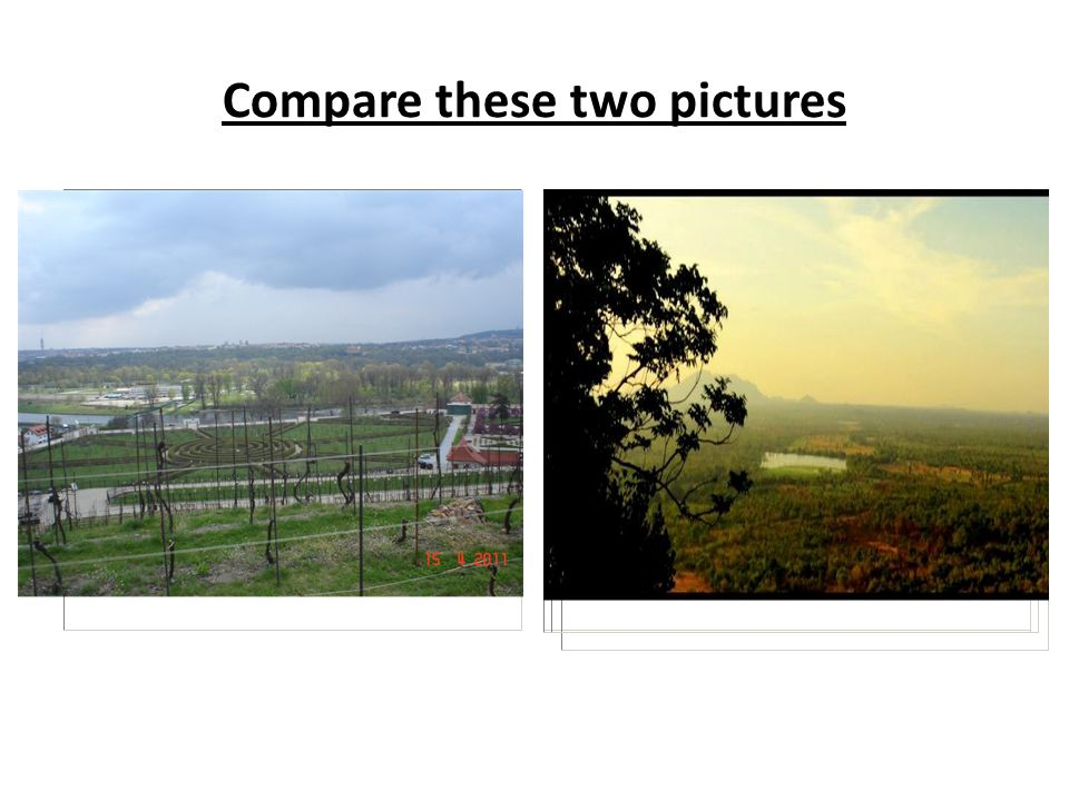 Try to answer the following questions about both pictures: 1.
