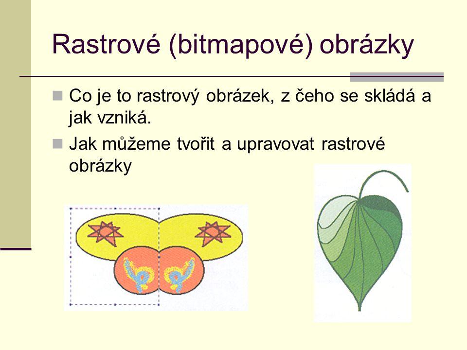Práce s rastrovými obrázky Úkoly a aktivity pro žáky.
