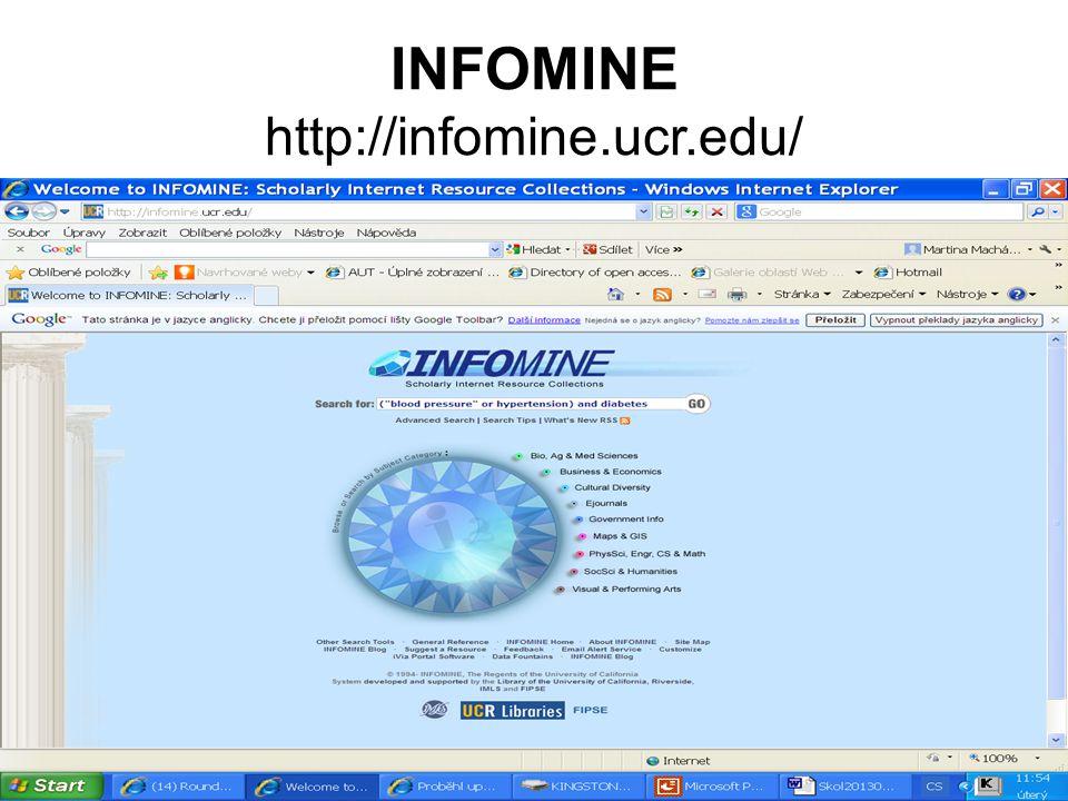 INFOMINE http://infomine.ucr.edu/