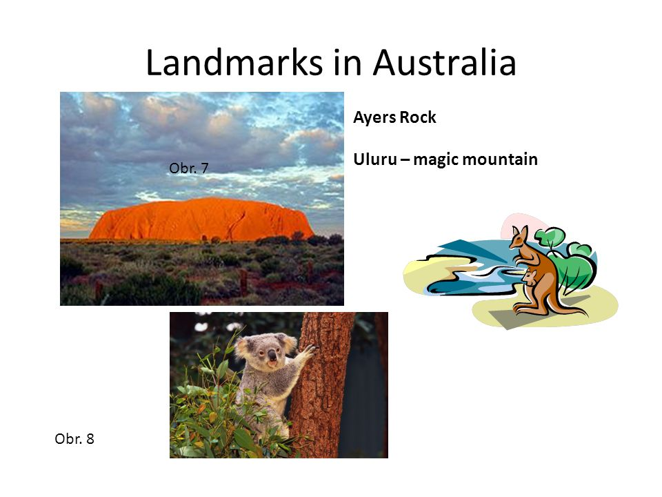 Landmarks in Australia Ayers Rock Uluru – magic mountain Obr. 7 Obr. 8