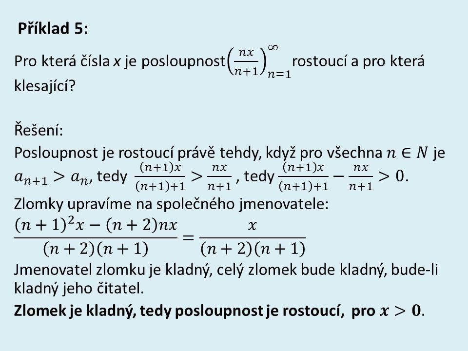 Řešení příkladu 5: