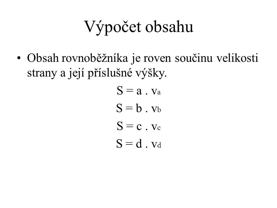 Výpočet obsahu kosočtverce pomocí úhlopříček S 1 u 1. u 2 2 u 1 u 2 Obr. 4 © Václav Simandl