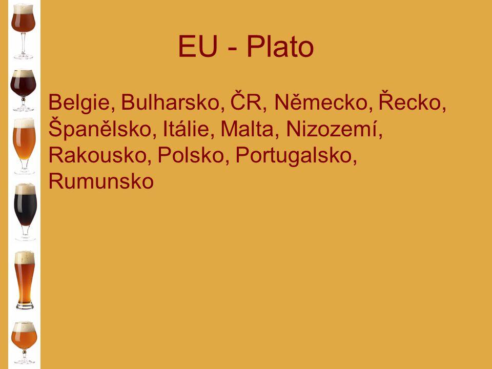 EU - Plato Belgie, Bulharsko, ČR, Německo, Řecko, Španělsko, Itálie, Malta, Nizozemí, Rakousko, Polsko, Portugalsko, Rumunsko