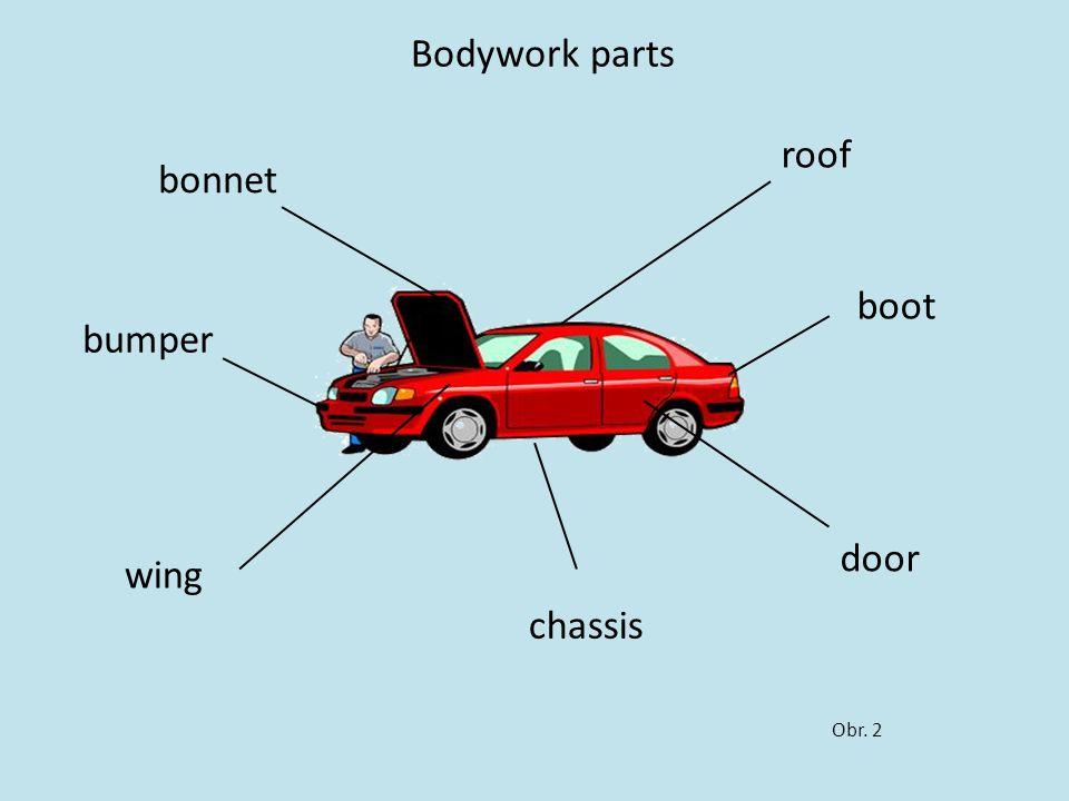 Bodywork parts chassis boot bumper roof bonnet door wing Obr. 2