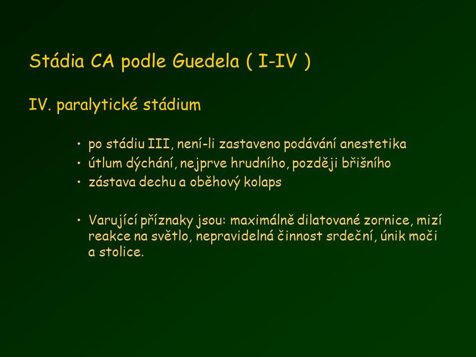 Stádia CA podle Guedela ( I-IV ) IV.