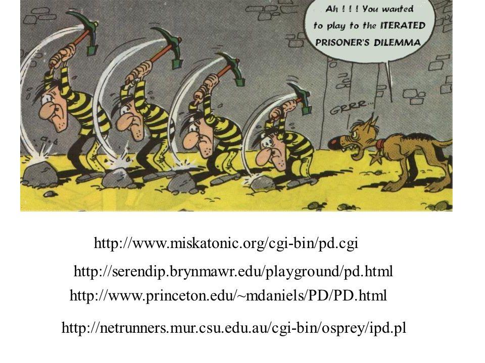 http://www.miskatonic.org/cgi-bin/pd.cgi http://serendip.brynmawr.edu/playground/pd.html http://www.princeton.edu/~mdaniels/PD/PD.html http://netrunne