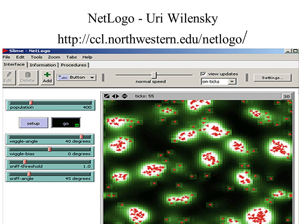 NetLogo - Uri Wilensky http://ccl.northwestern.edu/netlogo /