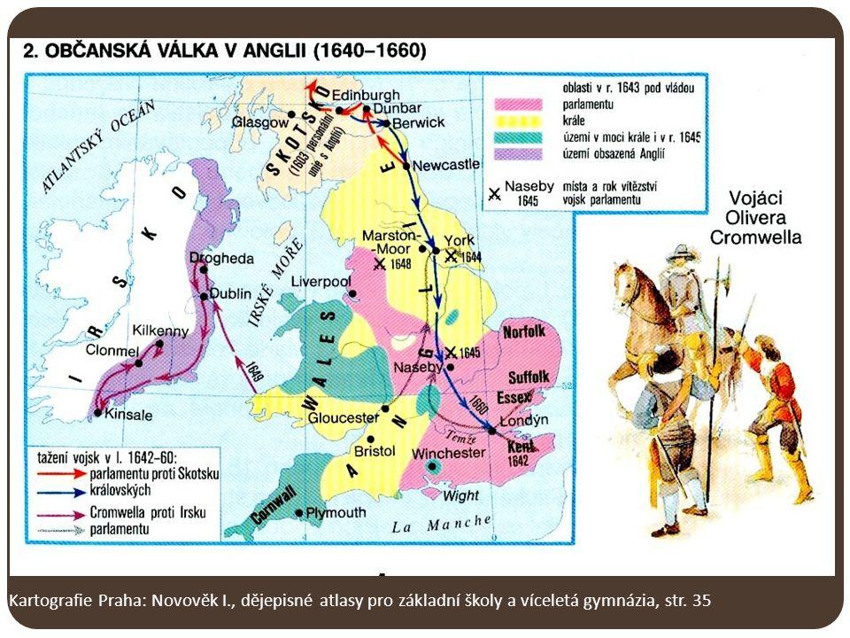 Kartografie Praha: Novověk I., dějepisné atlasy pro základní školy a víceletá gymnázia, str. 35