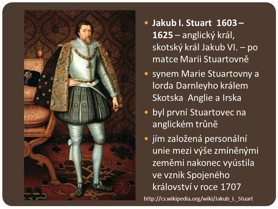 Karel I.a jeho spory s parlamentem Karel I. 1625 - 1649 – syn Jakuba I.