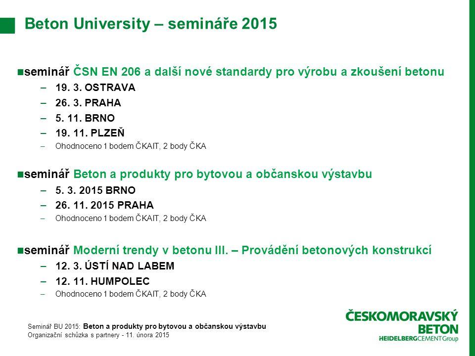 seminář ČSN EN 206 a další nové standardy pro výrobu a zkoušení betonu –19.