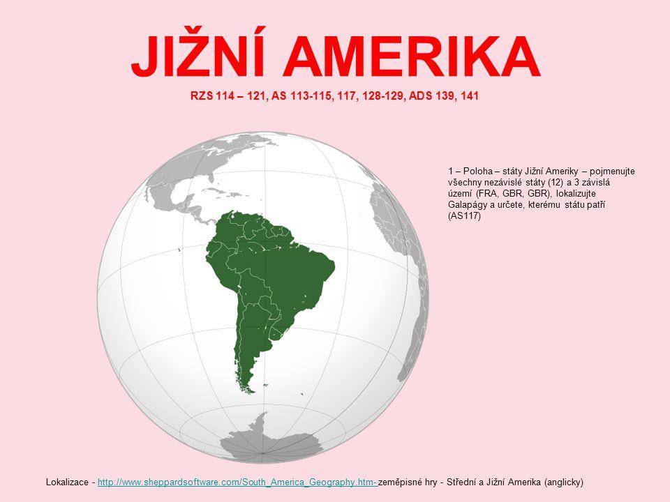 JIŽNÍ AMERIKA JIŽNÍ AMERIKA (12 nezávislých států) Standard ISO 3166-1 alpha-3 definuje třípísmenné kódy států a závislých oblastí.