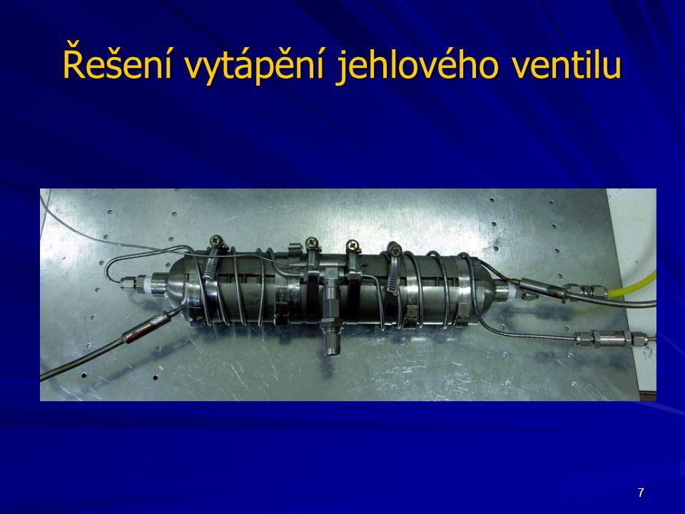 7 Řešení vytápění jehlového ventilu