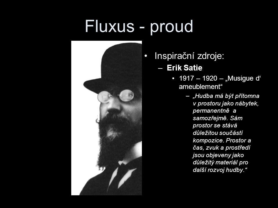 """Fluxus - tok Luigy Russolo –""""Milý Pratelo, Tvému futuristickému géniu předkládám své návrhy a vyzývám Tě k diskusi."""