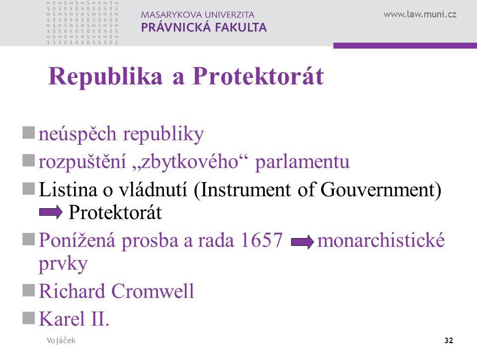 """www.law.muni.cz Vojáček32 Republika a Protektorát neúspěch republiky rozpuštění """"zbytkového"""" parlamentu Listina o vládnutí (Instrument of Gouvernment)"""