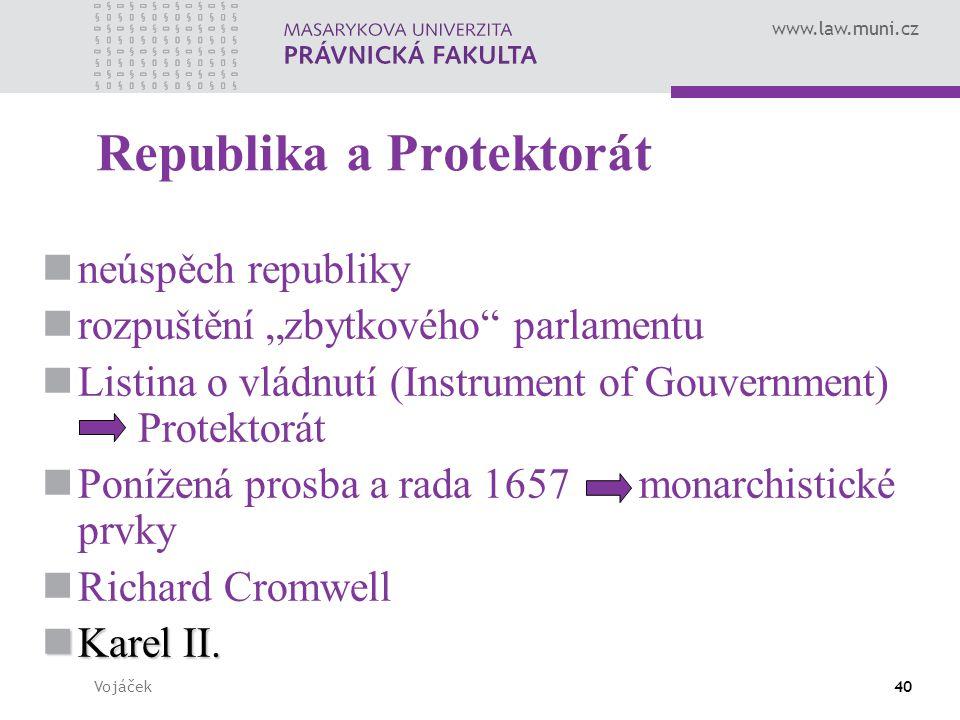 """www.law.muni.cz Vojáček40 Republika a Protektorát neúspěch republiky rozpuštění """"zbytkového"""" parlamentu Listina o vládnutí (Instrument of Gouvernment)"""