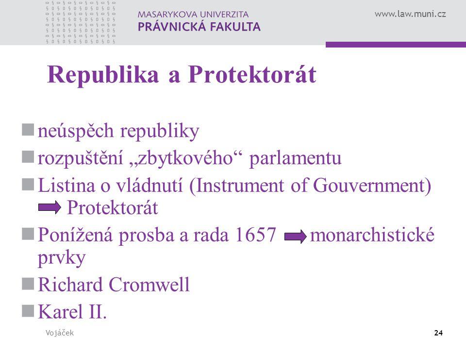 """www.law.muni.cz Vojáček24 Republika a Protektorát neúspěch republiky rozpuštění """"zbytkového"""" parlamentu Listina o vládnutí (Instrument of Gouvernment)"""