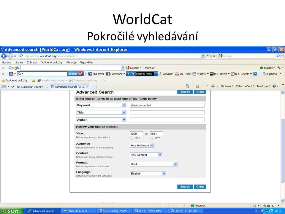 KVK Výsledky – dle jednotlivých katalogů Výsledky se zobrazují podle jednotlivých souborných katalogů.