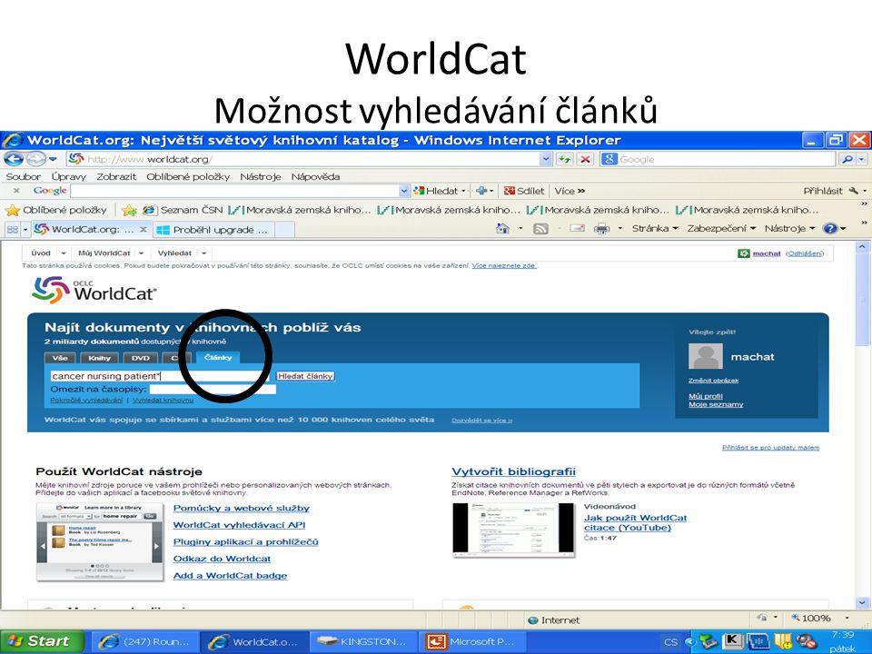 The European Library http://search.theeuropeanlibrary.org/portal/en/index.html Portál umožňuje souběžné prohledávání informačních zdrojů ve 48 národních knihovnách a významných vědeckých knihovnách v Evropě v jedné rešeršní masce.