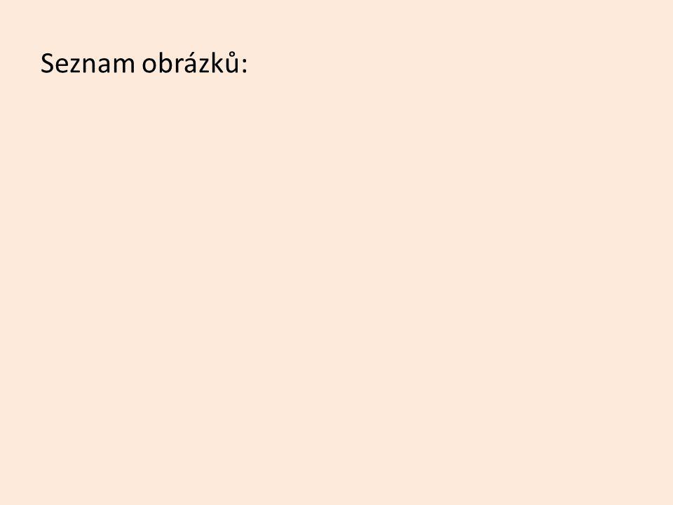 Seznam použité literatury: [1 ŠVARCOVÁ Jena a kolektiv, Ekonomie, CEED, Zlín, 2010