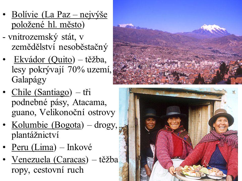 Bolívie (La Paz – nejvýše položené hl.