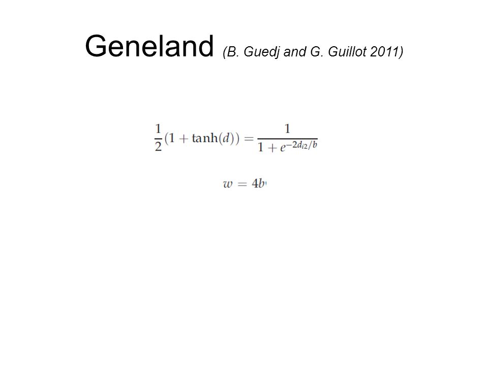 Geneland (B. Guedj and G. Guillot 2011)