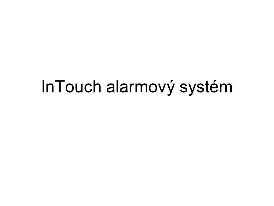 Distribuovaný alarmový systém informuje operátory o stavu výrobního procesu a řídicího systému alarmy – varovná hlášení o stavu sledovaných podmínek procesu alarm – výjimečný stav, signalizuje, že něco neprobíhá správně události – běžné zprávy o chodu systému událost – detekovatelná změna stavu