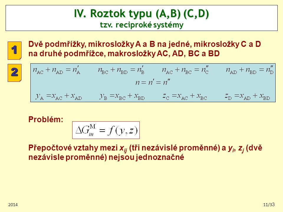 201411/33 IV.Roztok typu (A,B) (C,D) tzv.