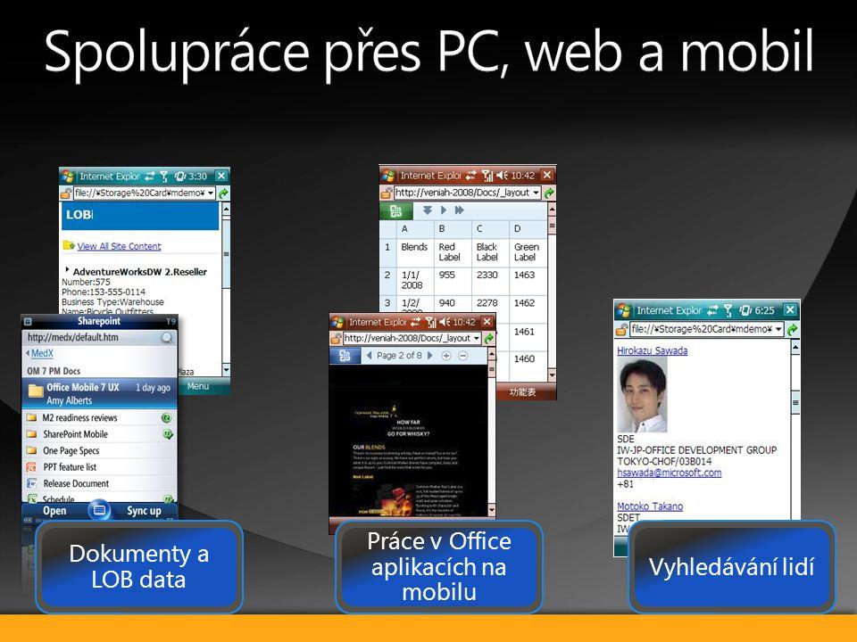 042 440 5280 Vyhledávání lidí Práce v Office aplikacích na mobilu Dokumenty a LOB data