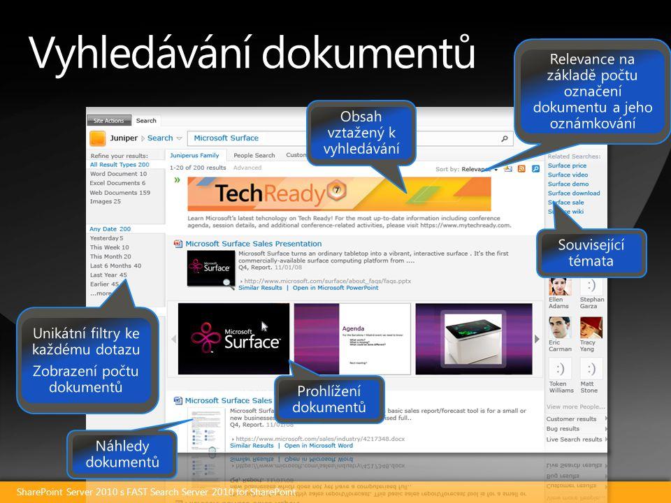 Vyhledávání dokumentů SharePoint Server 2010 s FAST Search Server 2010 for SharePoint