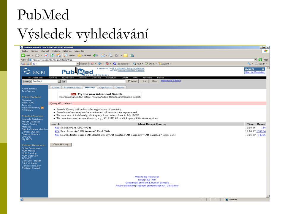 23 PubMed Výsledek vyhledávání