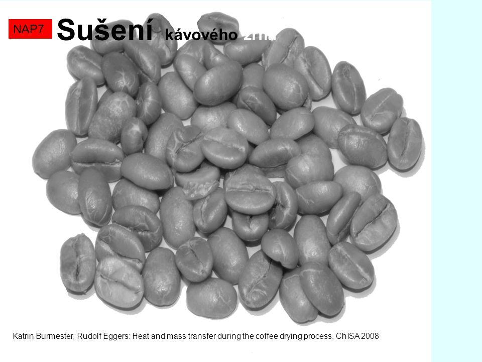 NAP7 Sušení kávového zrna Katrin Burmester, Rudolf Eggers: Heat and mass transfer during the coffee drying process, ChISA 2008