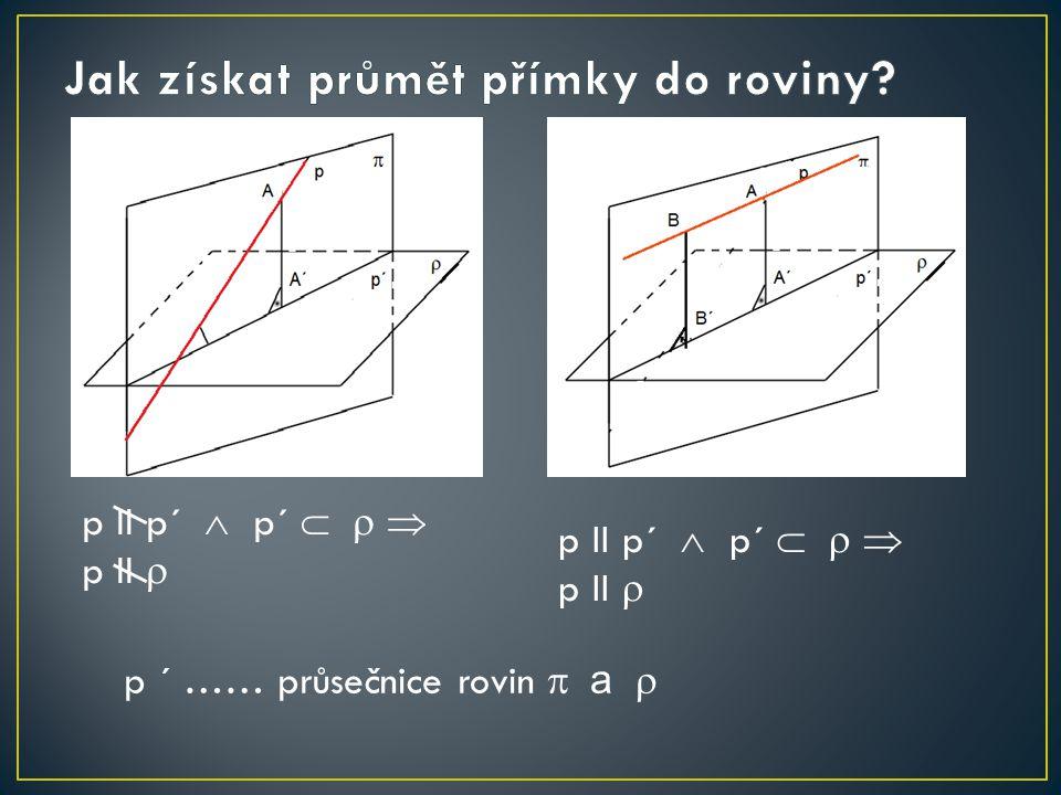 p II p´  p´    p II  p II p´  p´    p II  p ´ …… průsečnice rovin  a 