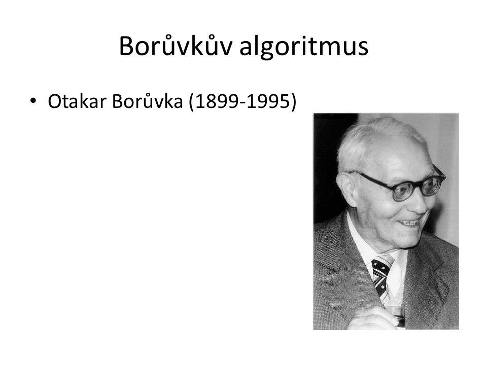 Borůvkův algoritmus Otakar Borůvka (1899-1995)