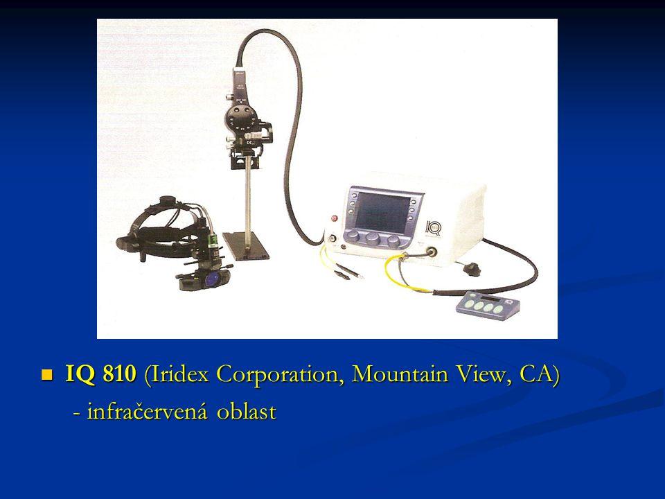 IQ 810 (Iridex Corporation, Mountain View, CA) - infračervená oblast