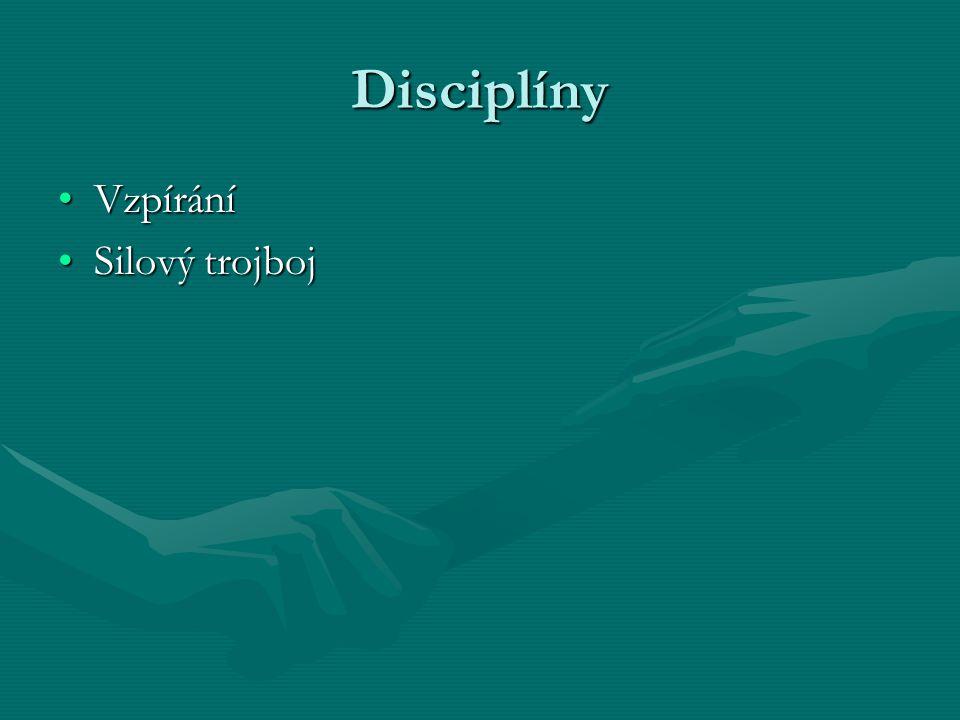 Disciplíny VzpíráníVzpírání Silový trojbojSilový trojboj