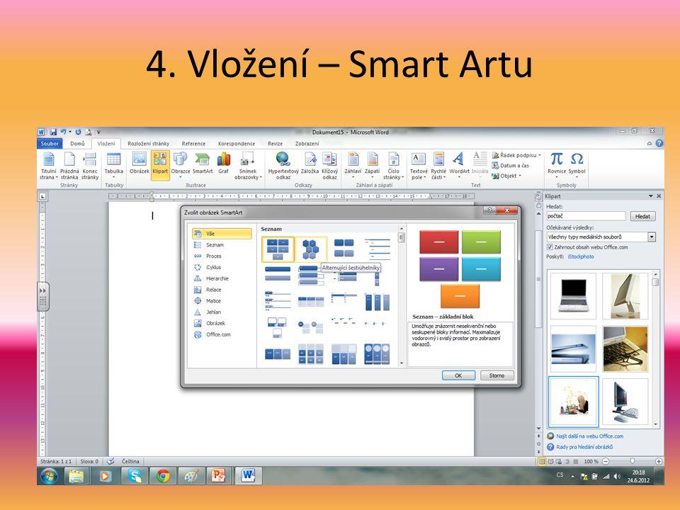 4. Vložení – Smart Artu