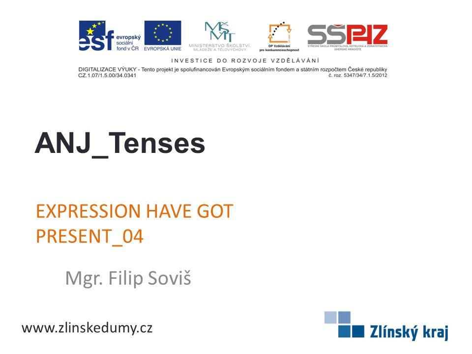 EXPRESSION HAVE GOT PRESENT_04 Mgr. Filip Soviš ANJ_Tenses www.zlinskedumy.cz
