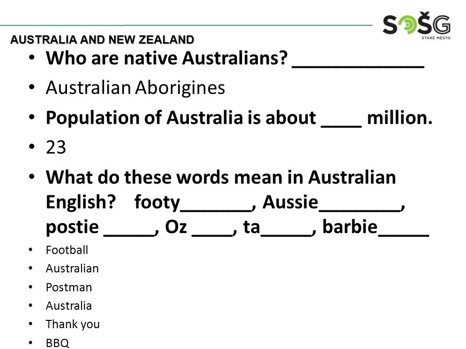 Who are native Australians.