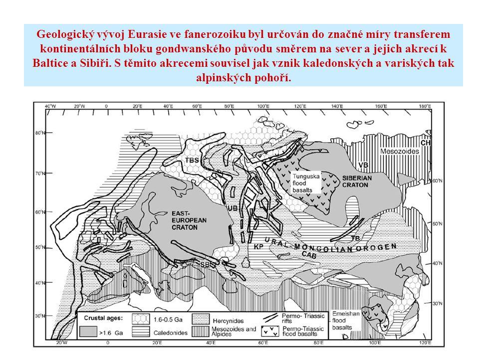 Geologický vývoj Eurasie ve fanerozoiku byl určován do značné míry transferem kontinentálních bloku gondwanského původu směrem na sever a jejich akrec