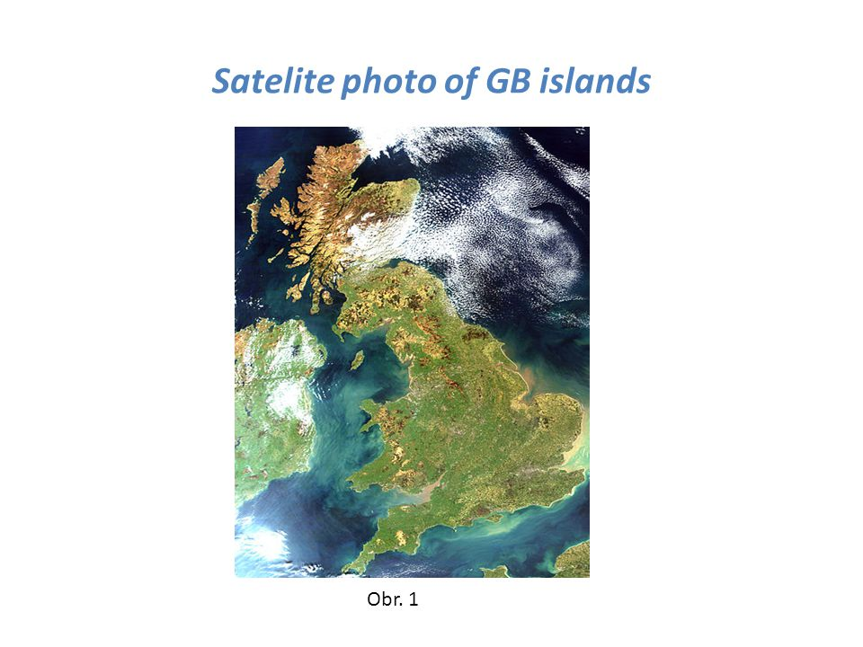 Satelite photo of GB islands Obr. 1