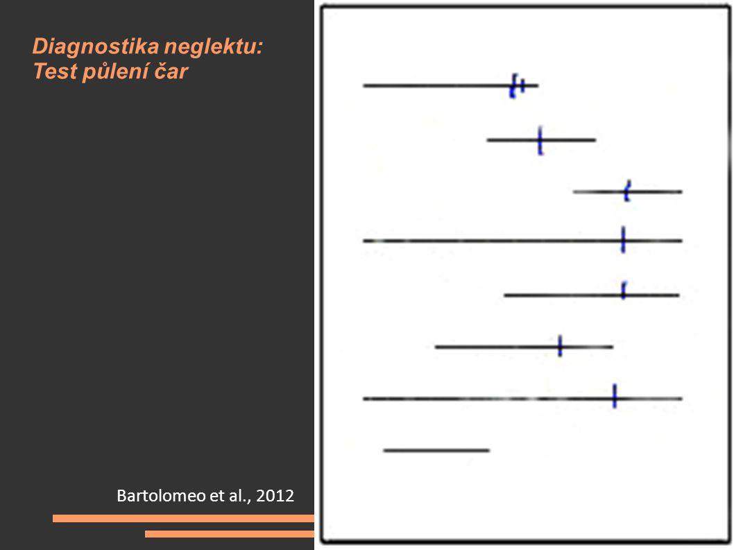 Bartolomeo et al., 2012 Diagnostika neglektu: Test půlení čar