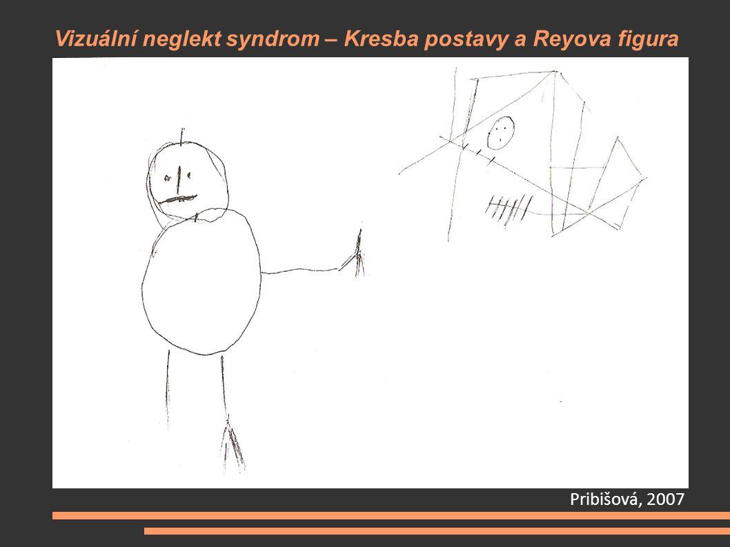 Vizuální neglekt syndrom – Kresba postavy a Reyova figura Pribišová, 2007