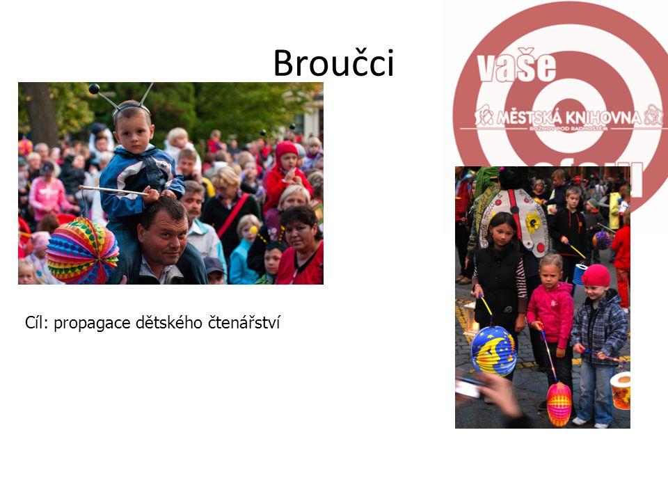 Broučci Cíl: propagace dětského čtenářství