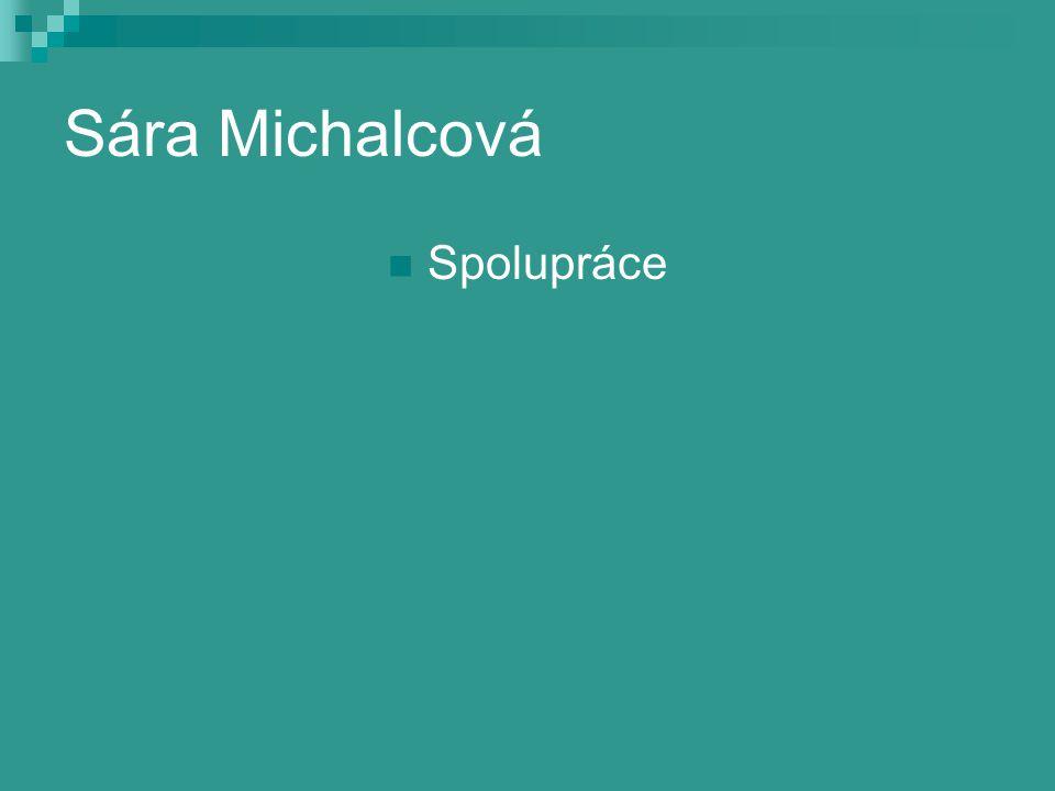 Sára Michalcová Spolupráce