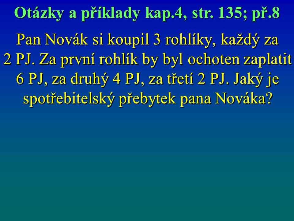 Pan Novák si koupil 3 rohlíky, každý za 2 PJ.